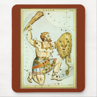 Vintage Celestial Astronomy, Orion Constellation Mouse Pad