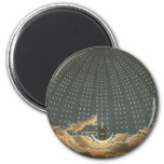 Vintage Celestial, Astronomy, Queen of the Night 2 Inch Round Magnet