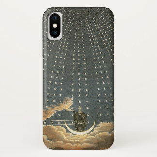 Vintage Celestial Astronomy, Queen of the Night iPhone X Case
