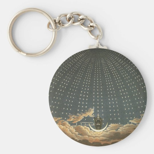 Vintage Celestial Astronomy, Queen of the Night Keychain