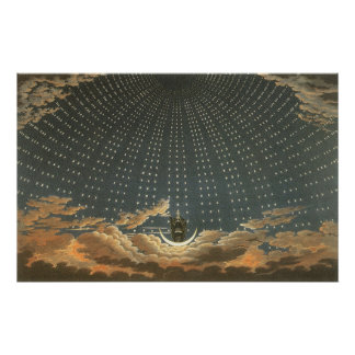 Vintage Celestial Astronomy, Queen of the Night Poster