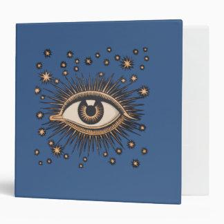 Vintage Celestial Eye Stars Moon Binder