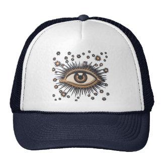 Vintage Celestial Eye Stars Moon Trucker Hat