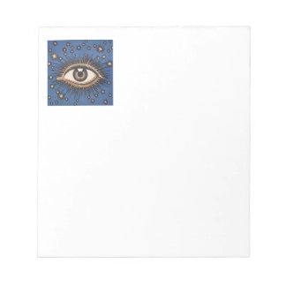 Vintage Celestial Eye Stars Moon Memo Pads