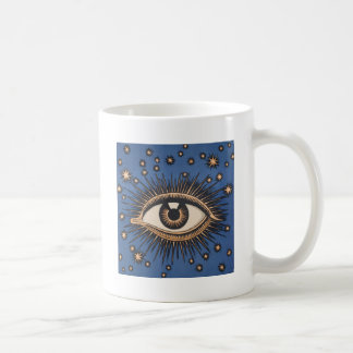 Vintage Celestial Eye Stars Moon Mugs