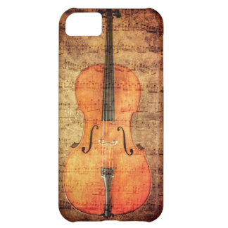 Vintage Cello Case For iPhone 5C