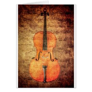 Vintage Cello Greeting Card