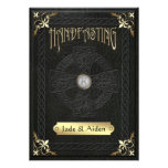 Vintage Celtic Cross Handfasting Wedding Personalized Invite