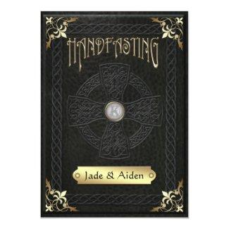 Vintage Celtic Cross Handfasting Wedding 5x7 Paper Invitation Card