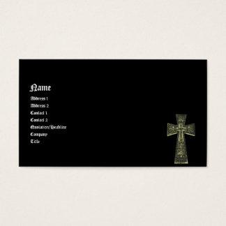 Vintage Celtic Goth Cross Business Card