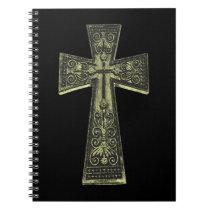 Vintage Celtic Goth Cross Notebook