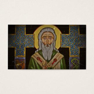 Vintage Celtic Saint Business Card
