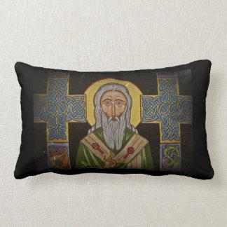 Vintage Celtic Saint Lumbar Pillow