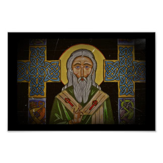 Vintage Celtic Saint Poster