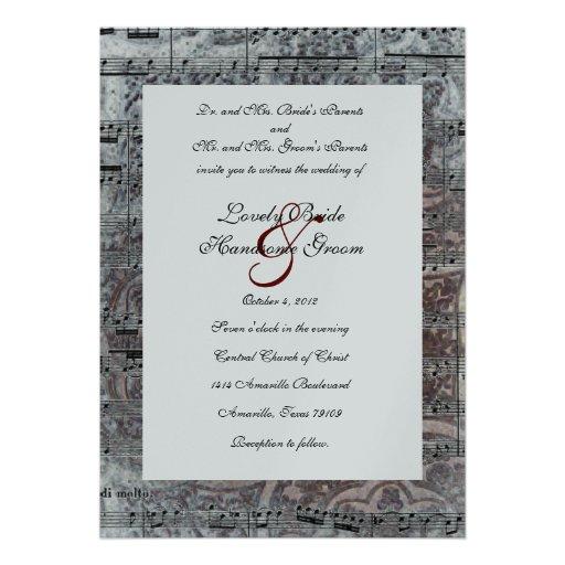 1,000+ Music Wedding Invitations, Music Wedding
