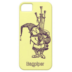 Vintage celtic troll trow bagpiper bagpipe player iPhone 5 case
