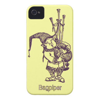 Vintage celtic troll trow bagpiper bagpipe player Case-Mate iPhone 4 case