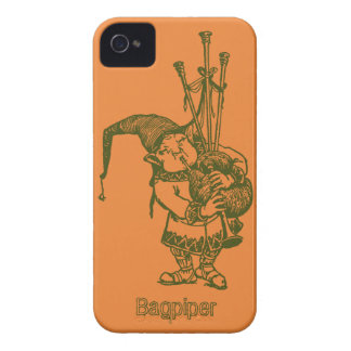 Vintage celtic troll trow bagpiper bagpipe player iPhone 4 case
