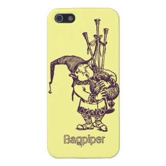 Vintage celtic troll trow bagpiper bagpipe player iPhone SE/5/5s cover
