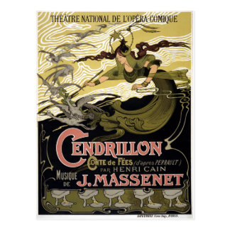 Vintage Cendrillon Cinderella French Opera Paris Postcard