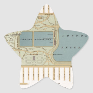 Vintage Central Park Map New York City Star Sticker