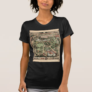 Vintage Central Park Map New York City T-shirt