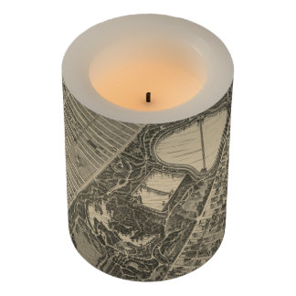 Vintage Central Park NYC Map (1879) Flameless Candle