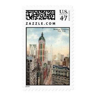 Vintage céntrico 1913 de Broadway NYC Estampillas