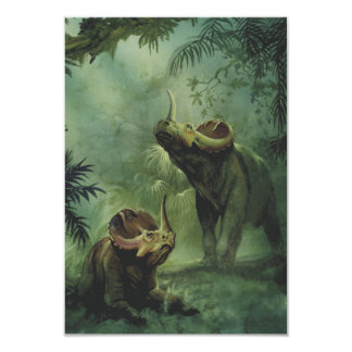 Vintage Centrosaurus Dinosaur in the Jungle 3.5x5 Paper Invitation Card