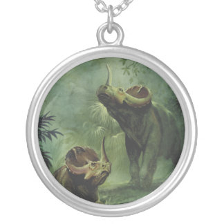 Vintage Centrosaurus Dinosaur in the Jungle Jewelry