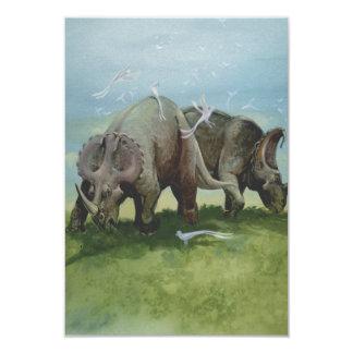 Vintage Centrosaurus Dinosaurs in the Meadow Invites