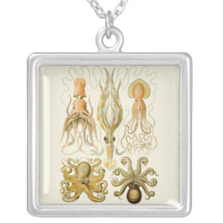 Vintage Cephalopods Silver Plated Necklace