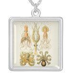 Vintage Cephalopods Square Pendant Necklace