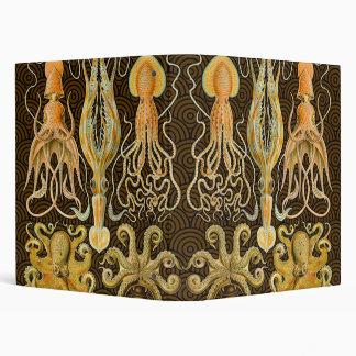 Vintage Cephalopods Squid Octopus 3 Ring Binder