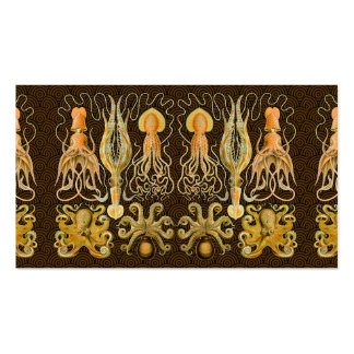 Vintage Cephalopods Squid Octopus Business Cards
