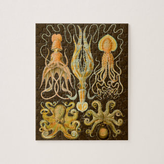 Vintage Cephalopods Squid Octopus Jigsaw Puzzle