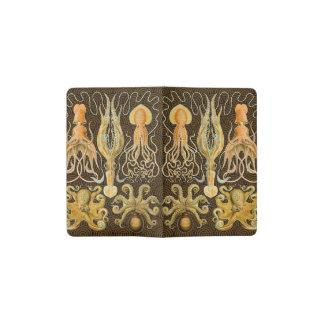Vintage Cephalopods Squid Octopus Pocket Moleskine Notebook