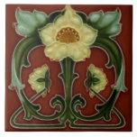 """Vintage Ceramic Floral Art Nouveau Tile Print<br><div class=""""desc"""">Perfect for the home & as a keepsake.</div>"""