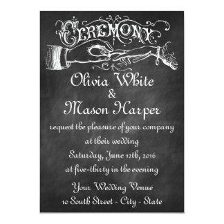 Vintage Ceremony Chalk Card