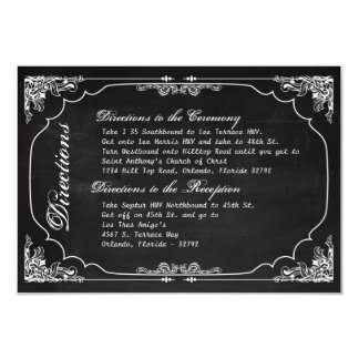 vintage Cha de la pizarra del boda de la tarjeta Invitación 8,9 X 12,7 Cm