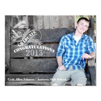 Vintage Chalk Photo Graduation Card