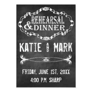 Vintage Chalk Rehearsal Personalized Announcements