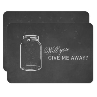Vintage Chalk Will You Give Me Away Card