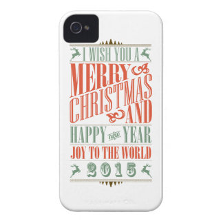 Vintage Chalkboad Christmas & New Year 2015 iPhone 4 Cases