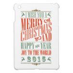 Vintage Chalkboad Christmas & New Year 2015 iPad Mini Case