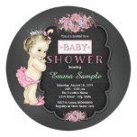 Vintage Chalkboard Baby Girl Shower