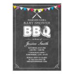 Vintage Chalkboard Baby Shower BBQ Party Personalized Invitations