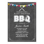 "Vintage Chalkboard Baby Shower BBQ Party 5"" X 7"" Invitation Card"