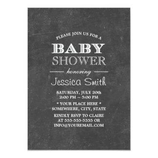 Vintage Chalkboard Baby Shower Card