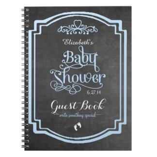 Vintage Chalkboard-Baby Shower Guest Book Note Book